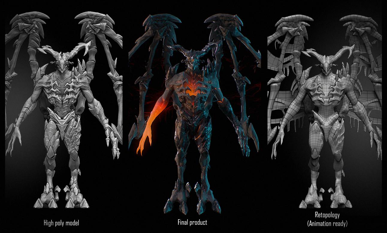 ArtStation - Game ready Demon 3d Character , Jan Becerikli