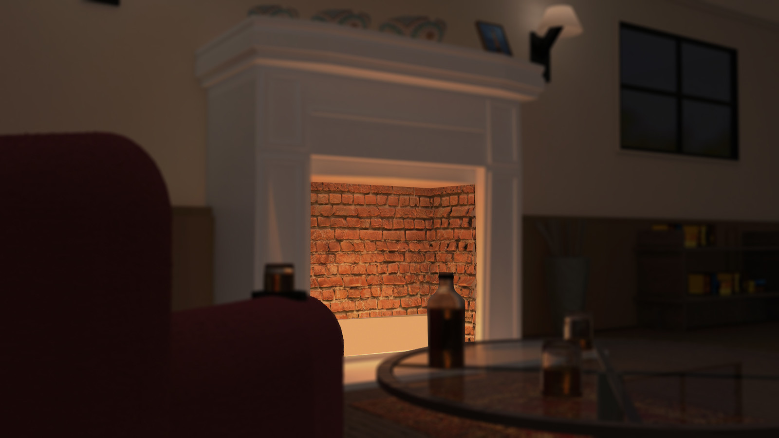 Final render, fireplace with some Motion Blur
