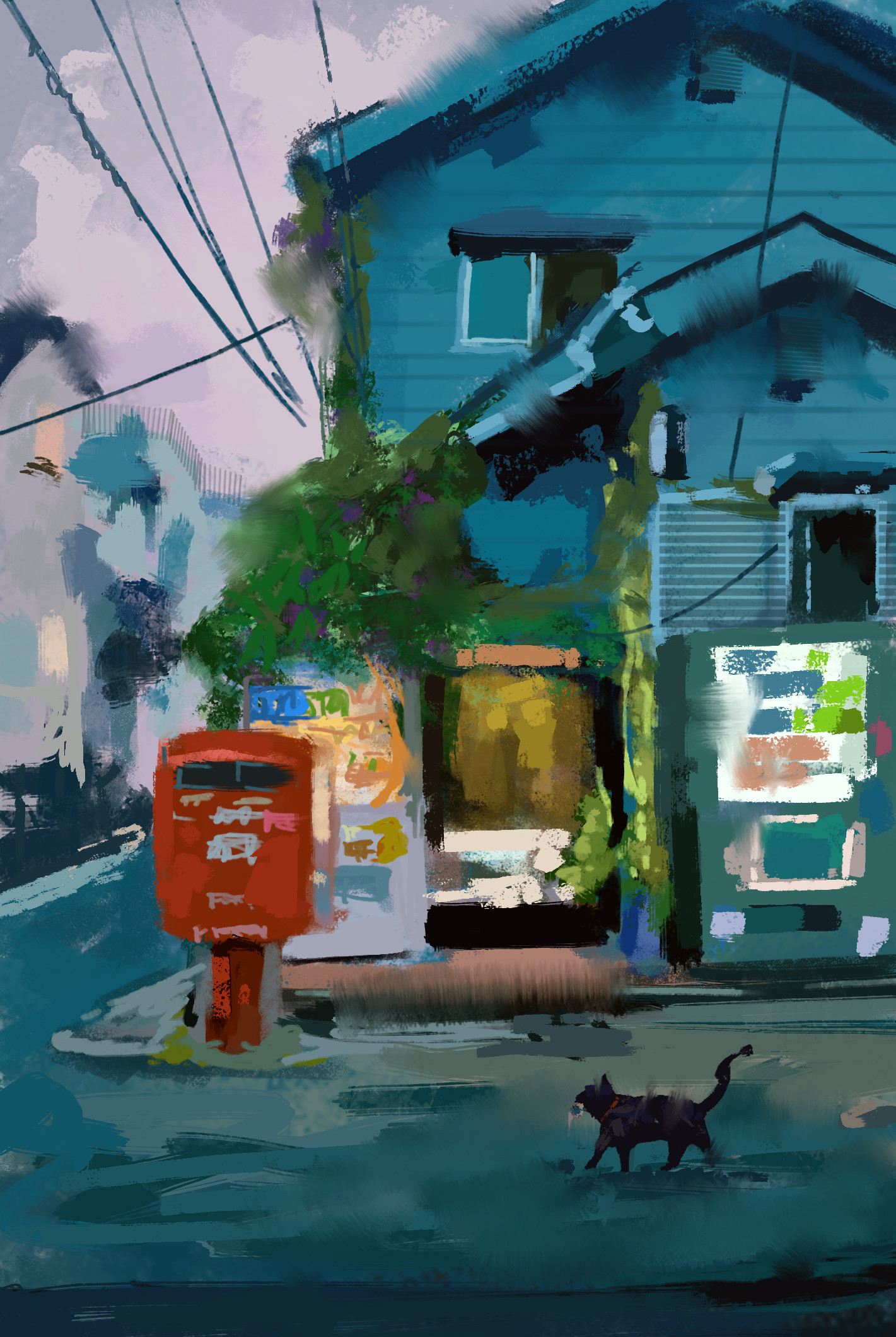 Jack dowell dusk study painting
