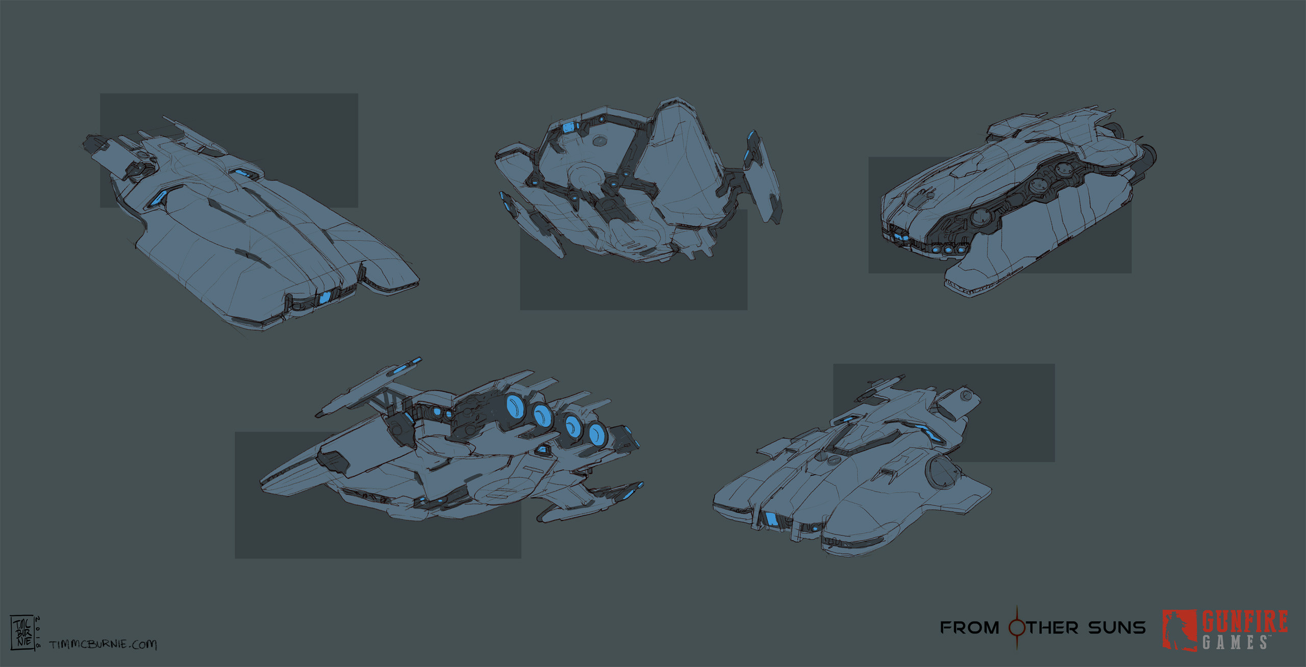 Different initial ideas for the ship