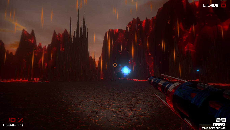 Plasma shot from Plasma Rifle, Energy is released