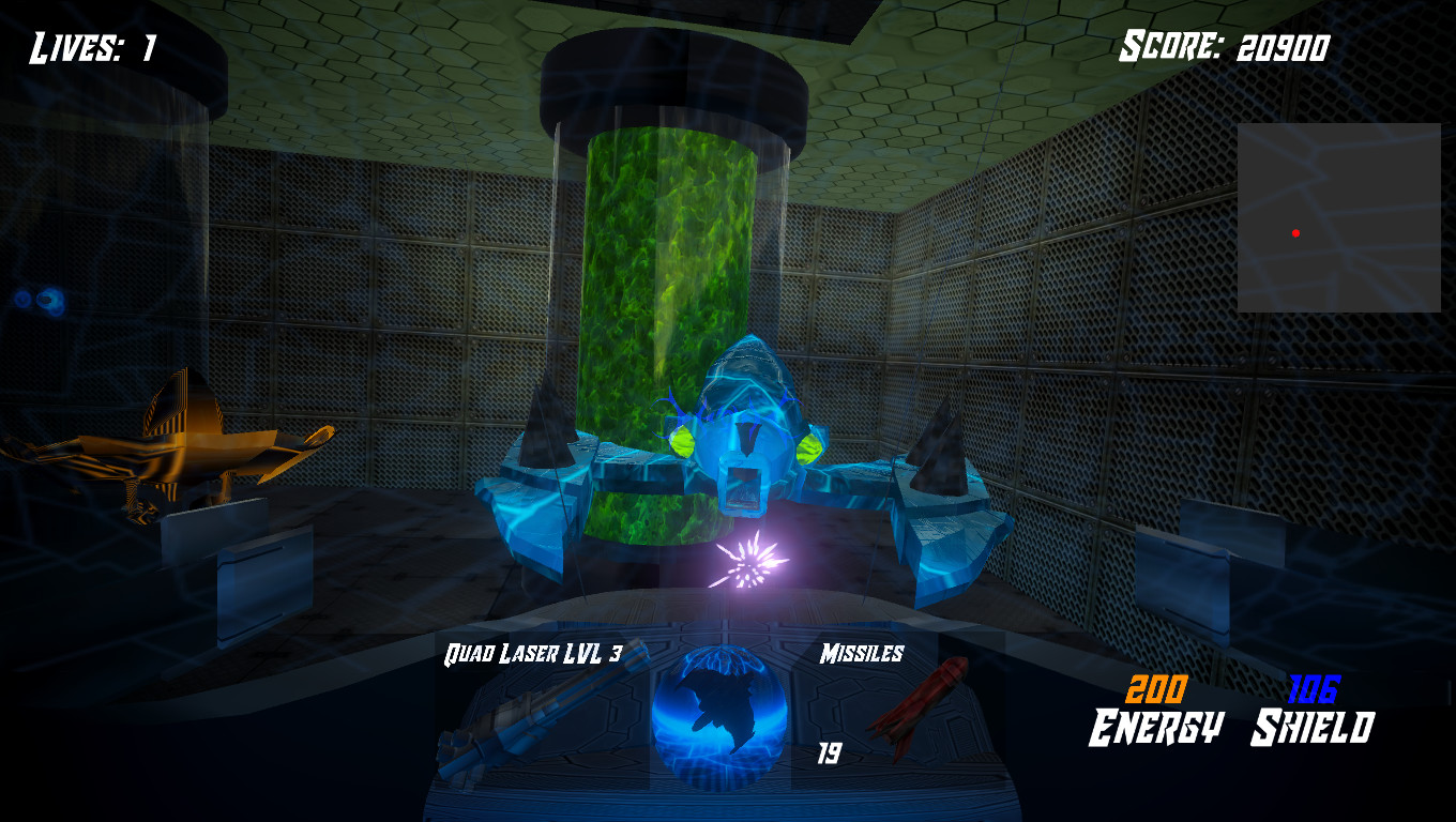 Ion Miner Enemy - has a certain Level laser depending on difficulty, can ram player.