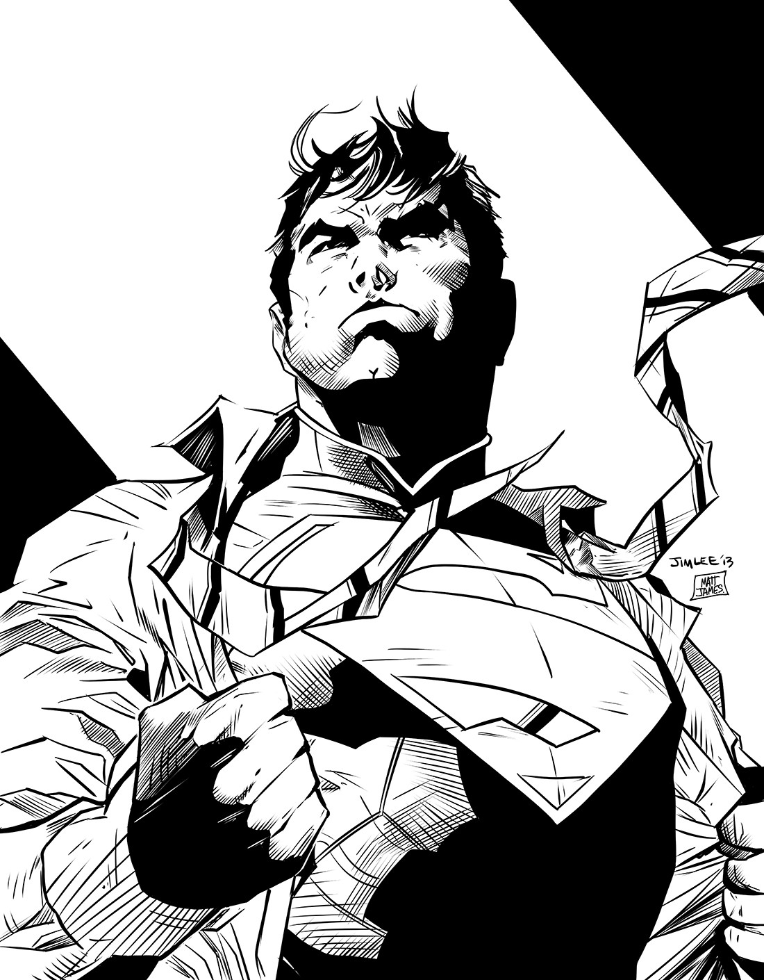 Jim Lee Superman Re-Ink