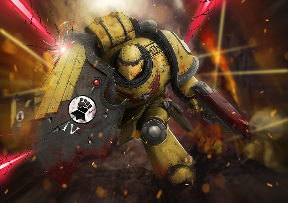 Artstation armies of warhammer 40k imperial fists kit lau - Imperial fists 40k ...