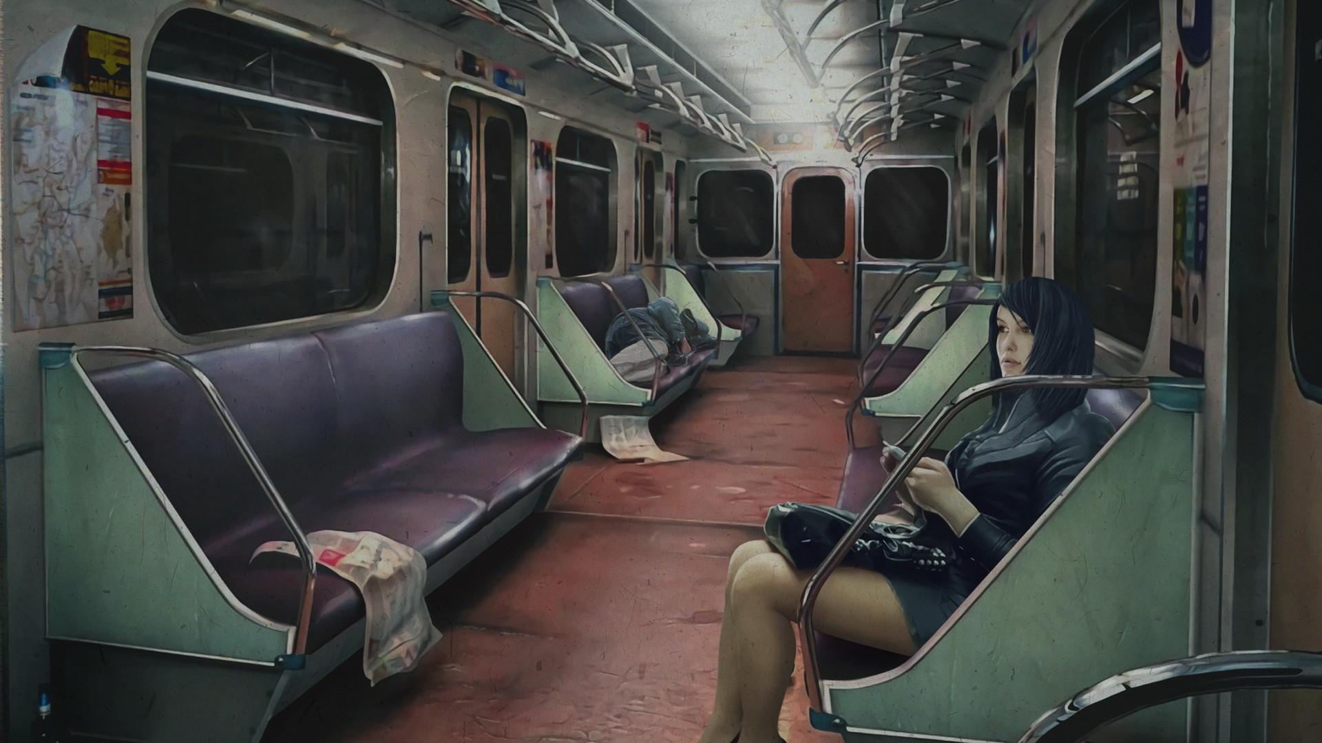 Scene 3 - Train interior
