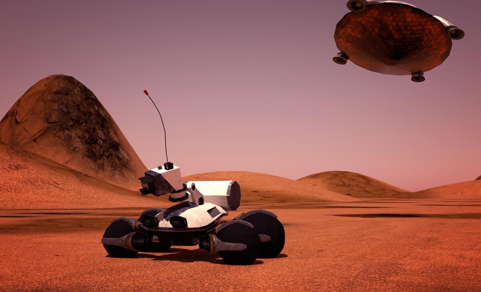 mars rover landing - HD1626×987