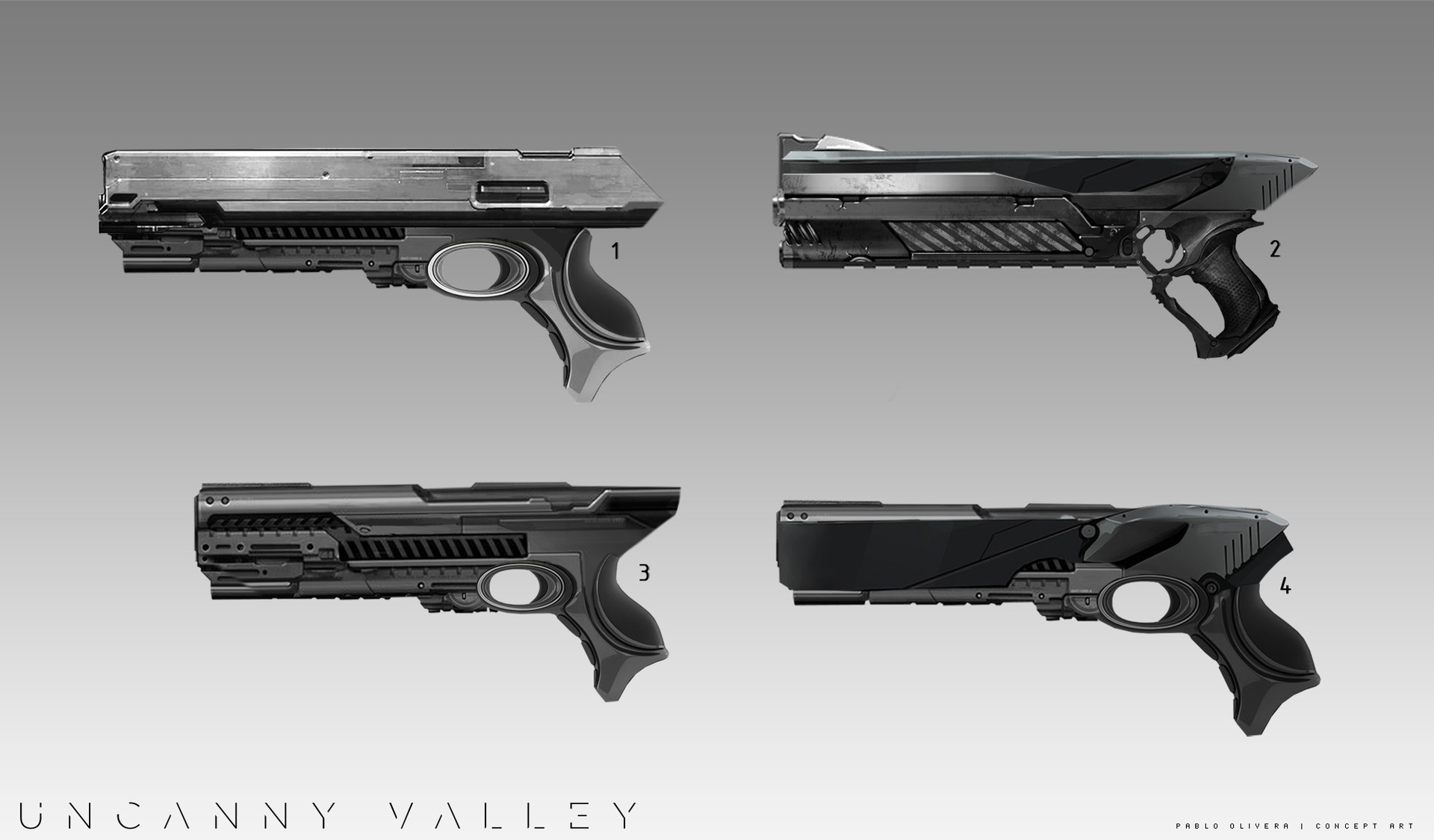Pablo olivera uncanny valley weapons todas 02