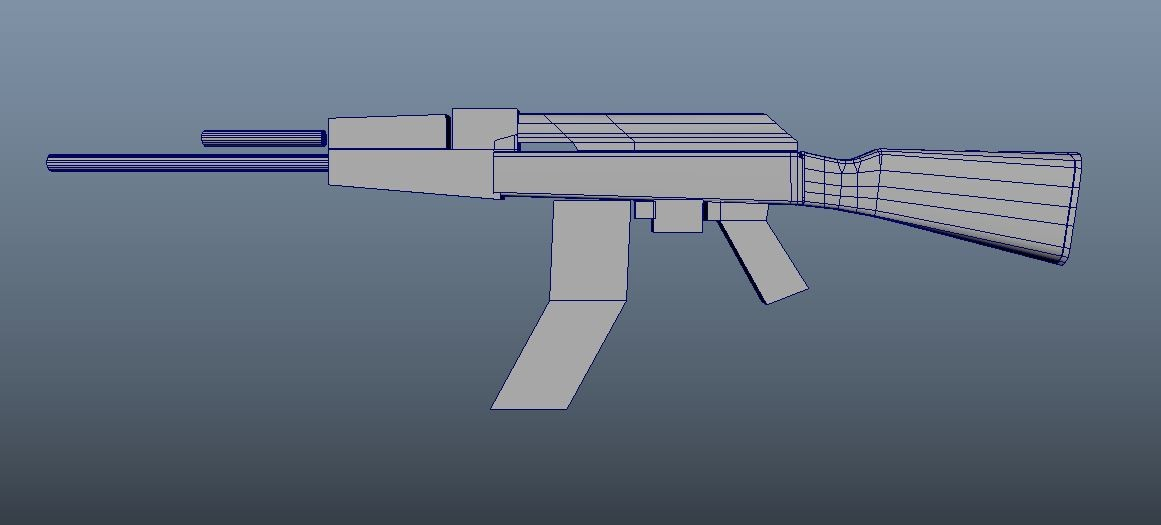 From the beginning, I started by a block out AK. Easy and simple.