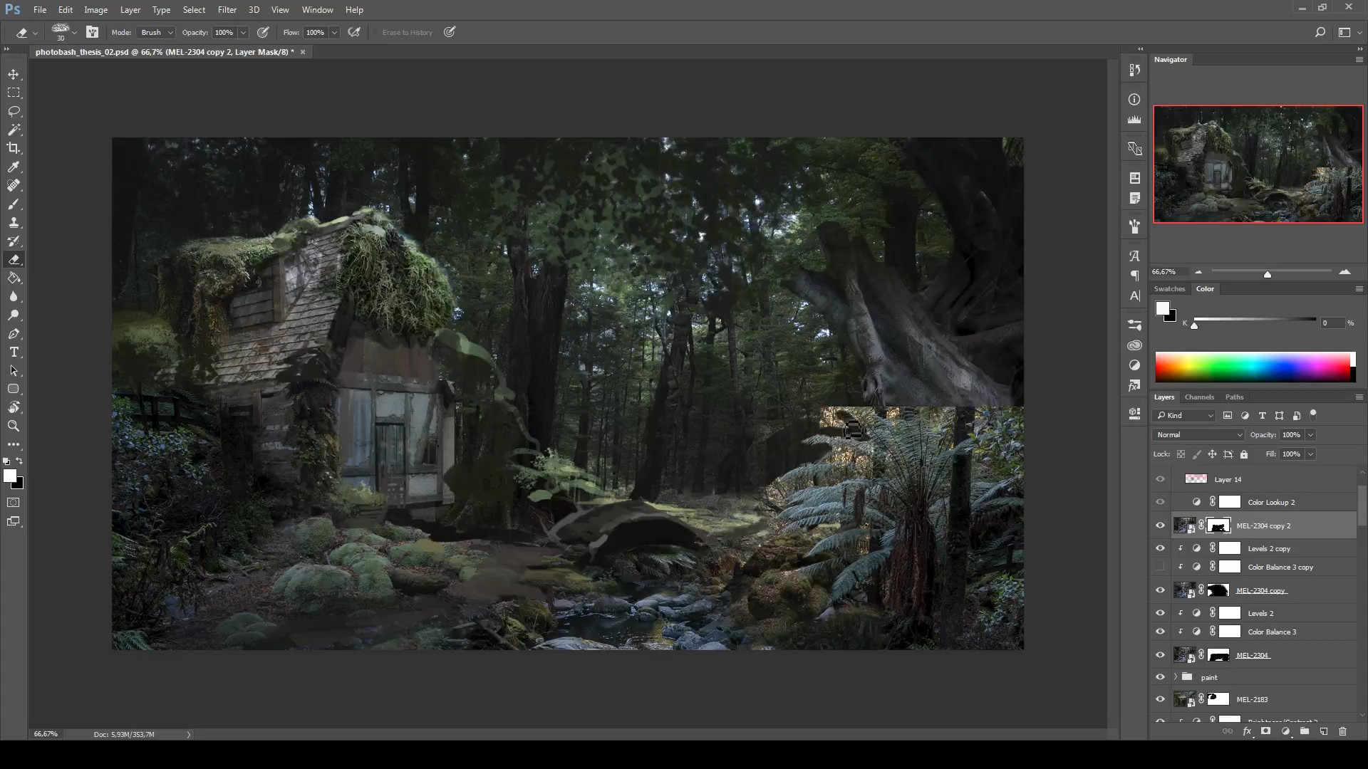 13 - Adding more details and mixing up some photos of varying biomes to make things more interesting and fantasy-esque