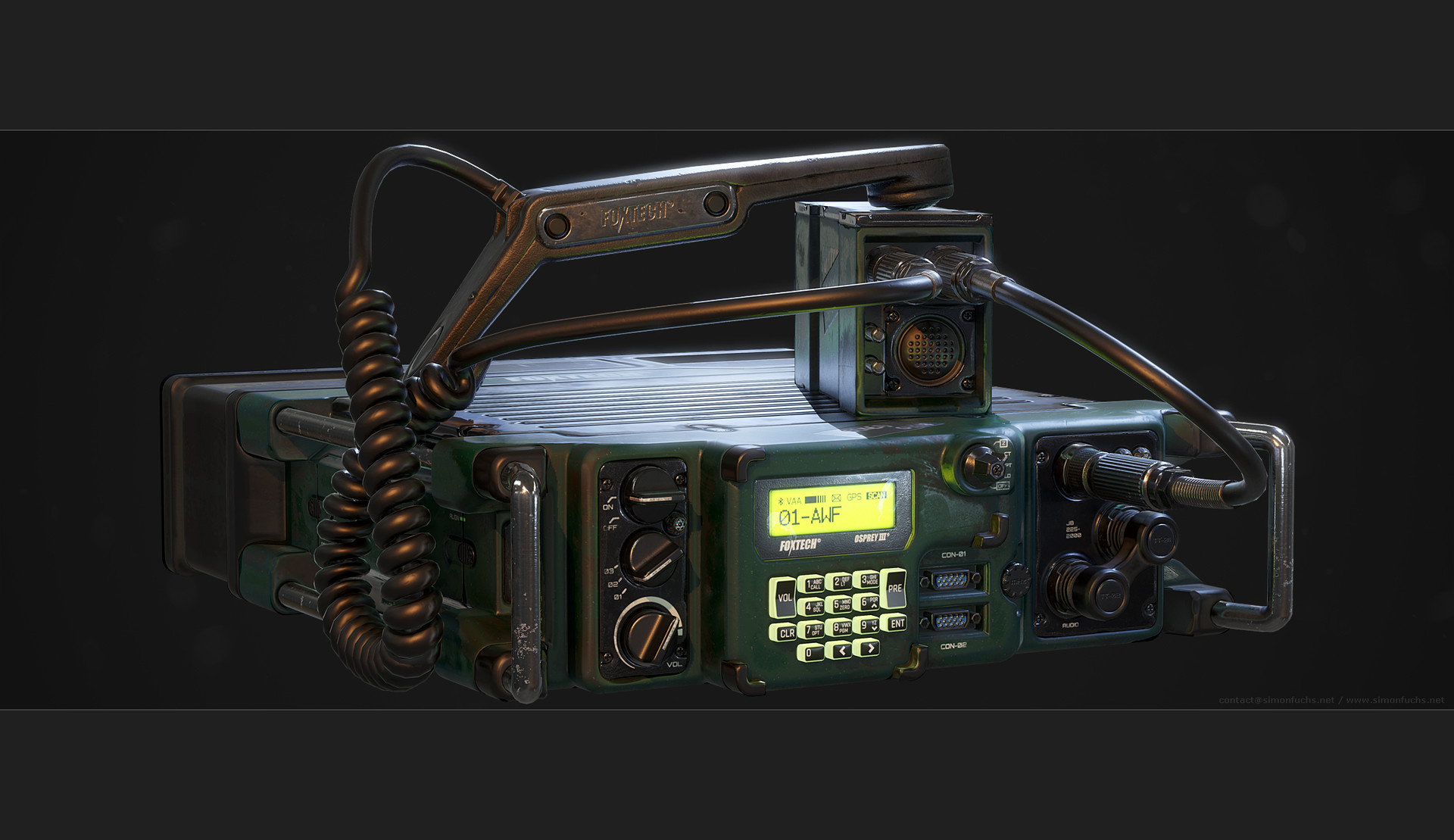 ArtStation - Military Radio Tutorial, Simon Fuchs