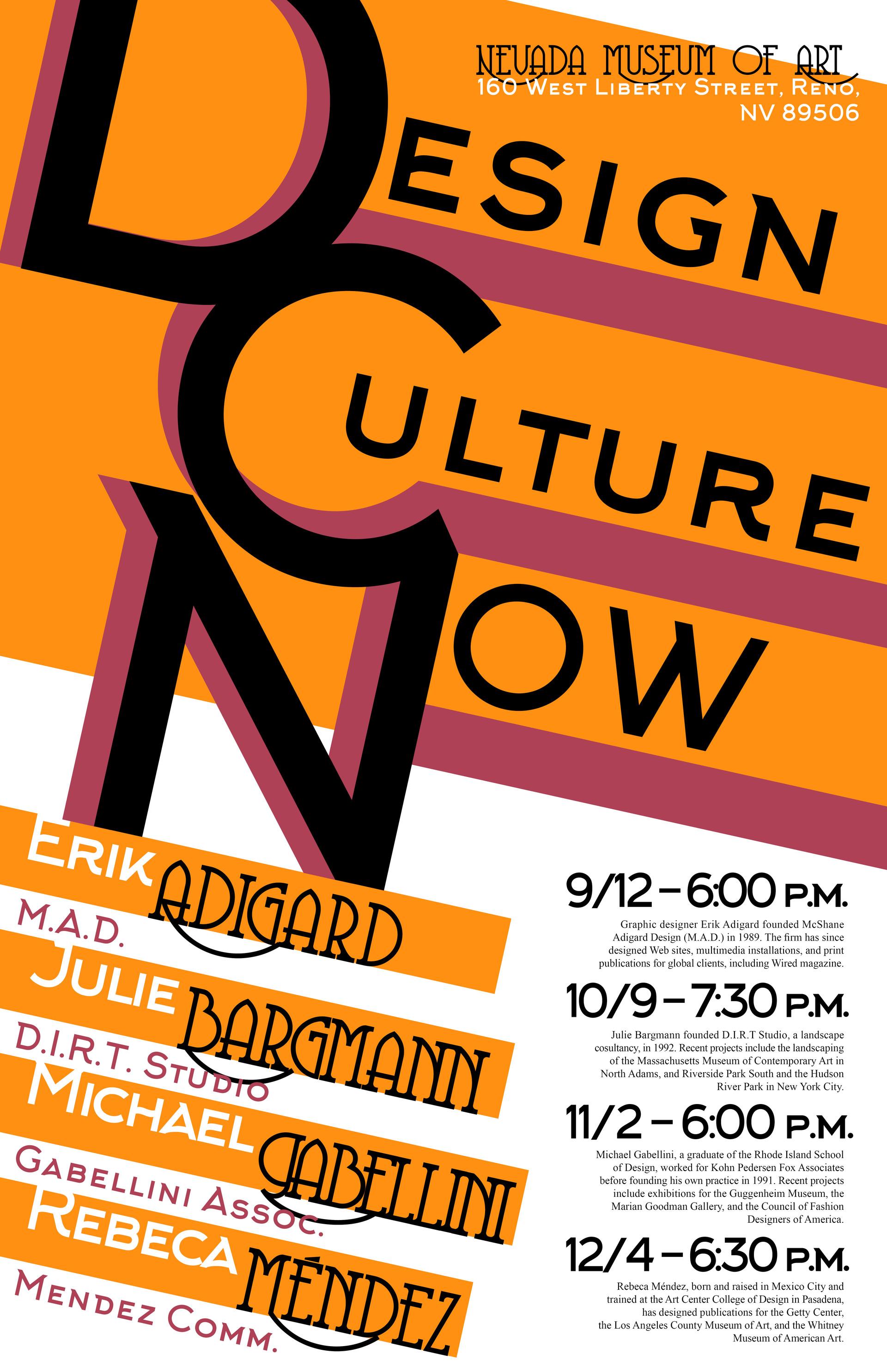 Seren Dark - Design Culture Now Poster