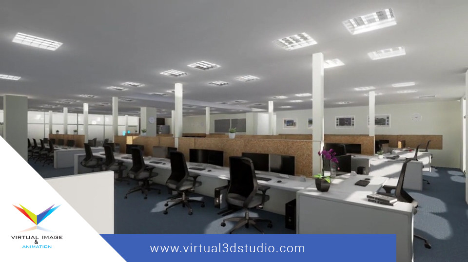 INTERIOR OFFICE 3D VISUALIZATIONS