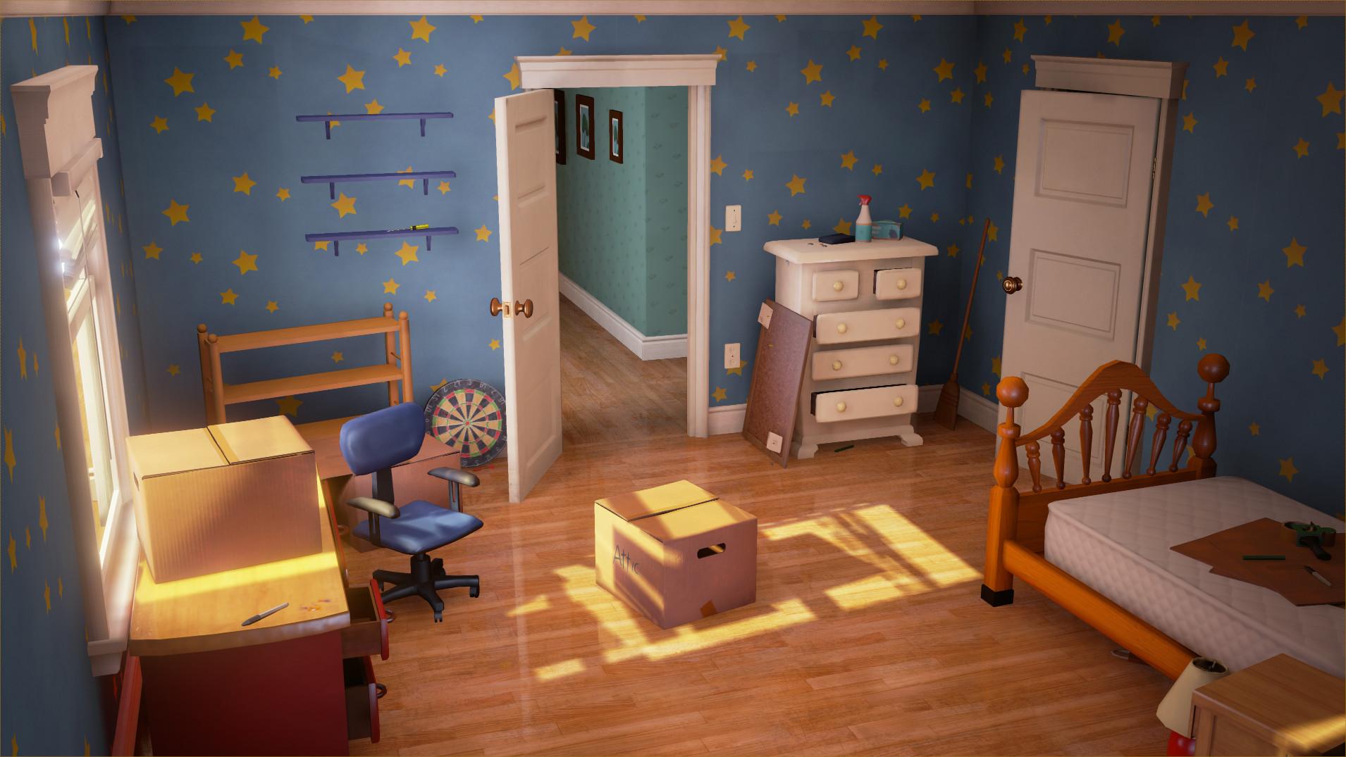 Artstation Andy S Room Ue4 Joseph Shaw