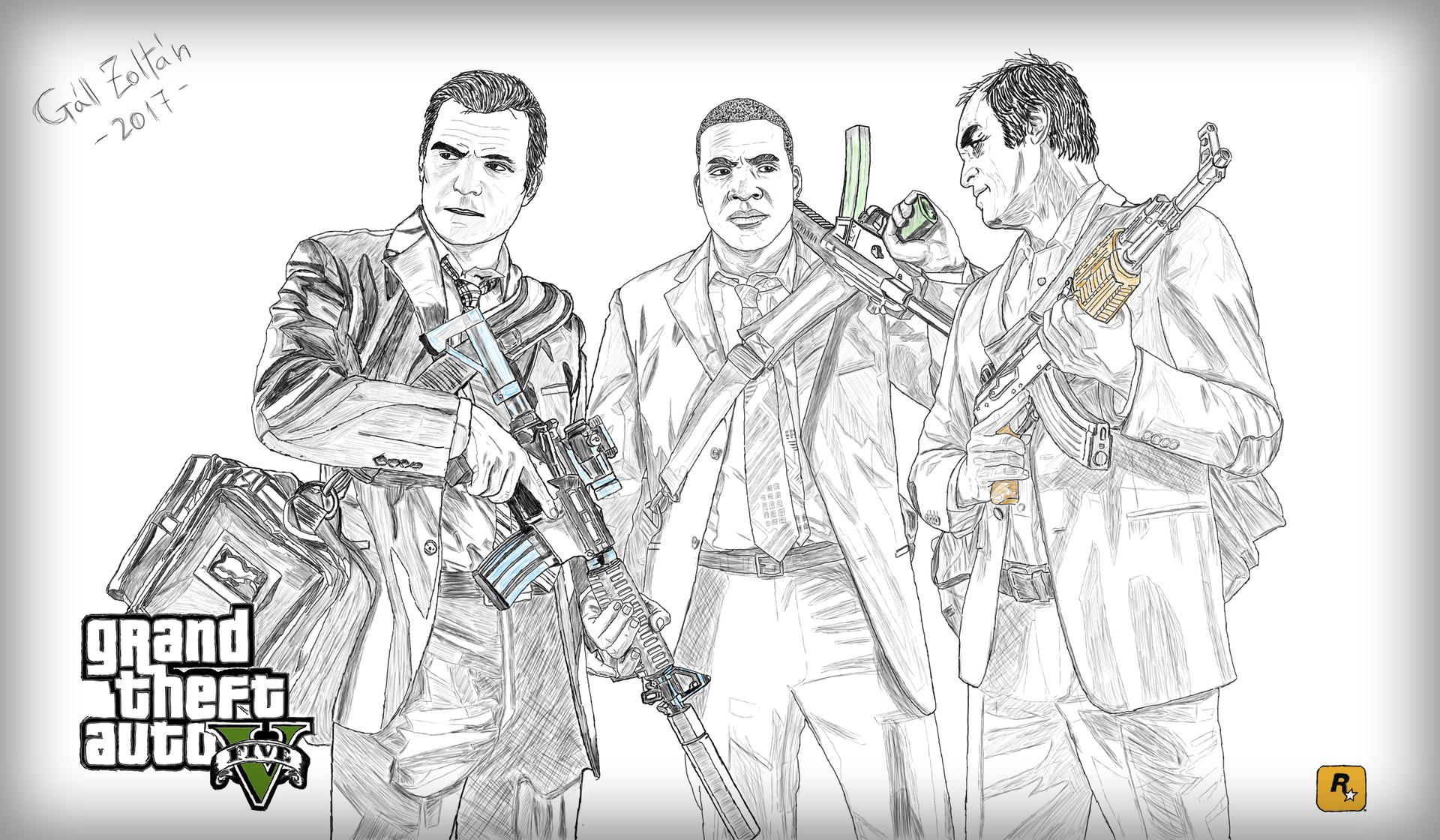 ArtStation - Grand Theft Auto V fanart, Zoltán Gáll
