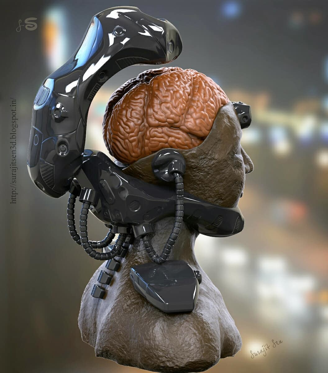 One of my old concept sculpts.....Brainy! Wish to share...:)
