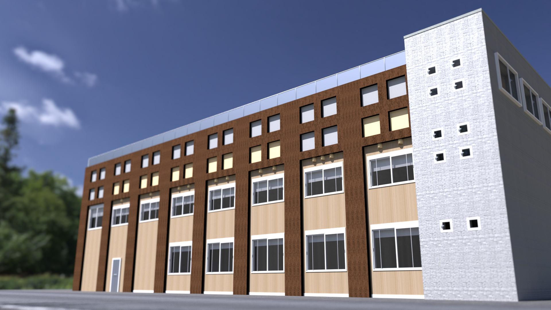ArtStation - School Building using Blender, Yosuke Inoue