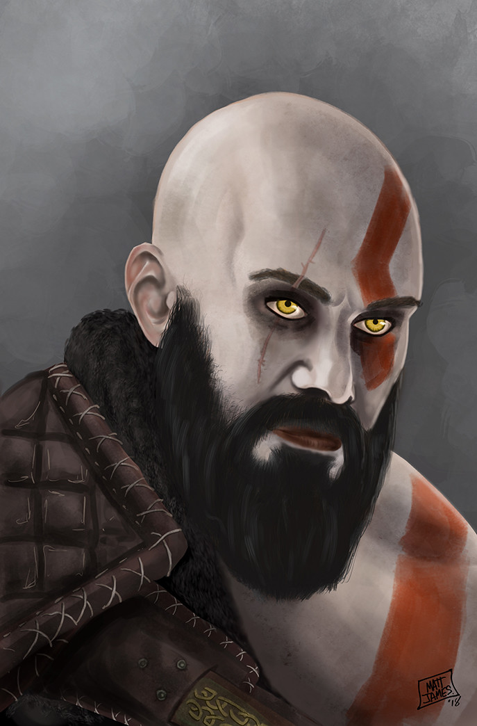 Matt james kratos by snakebitartstudio dc9eeum