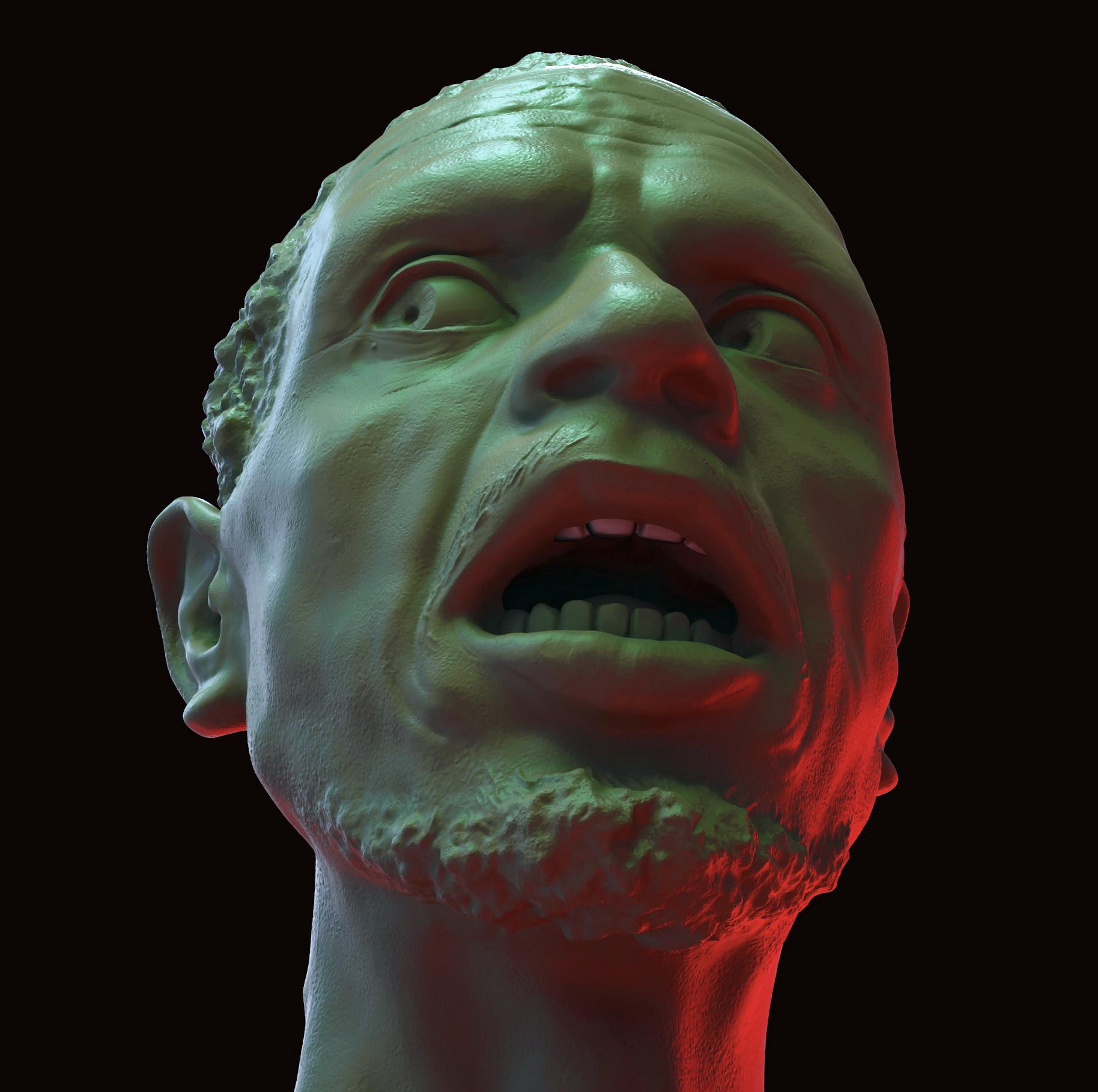 Dirk wachsmuth black male afraid 4fun color render