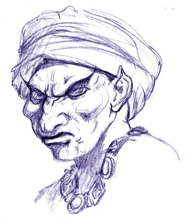 Flaym. Efreet Wizard