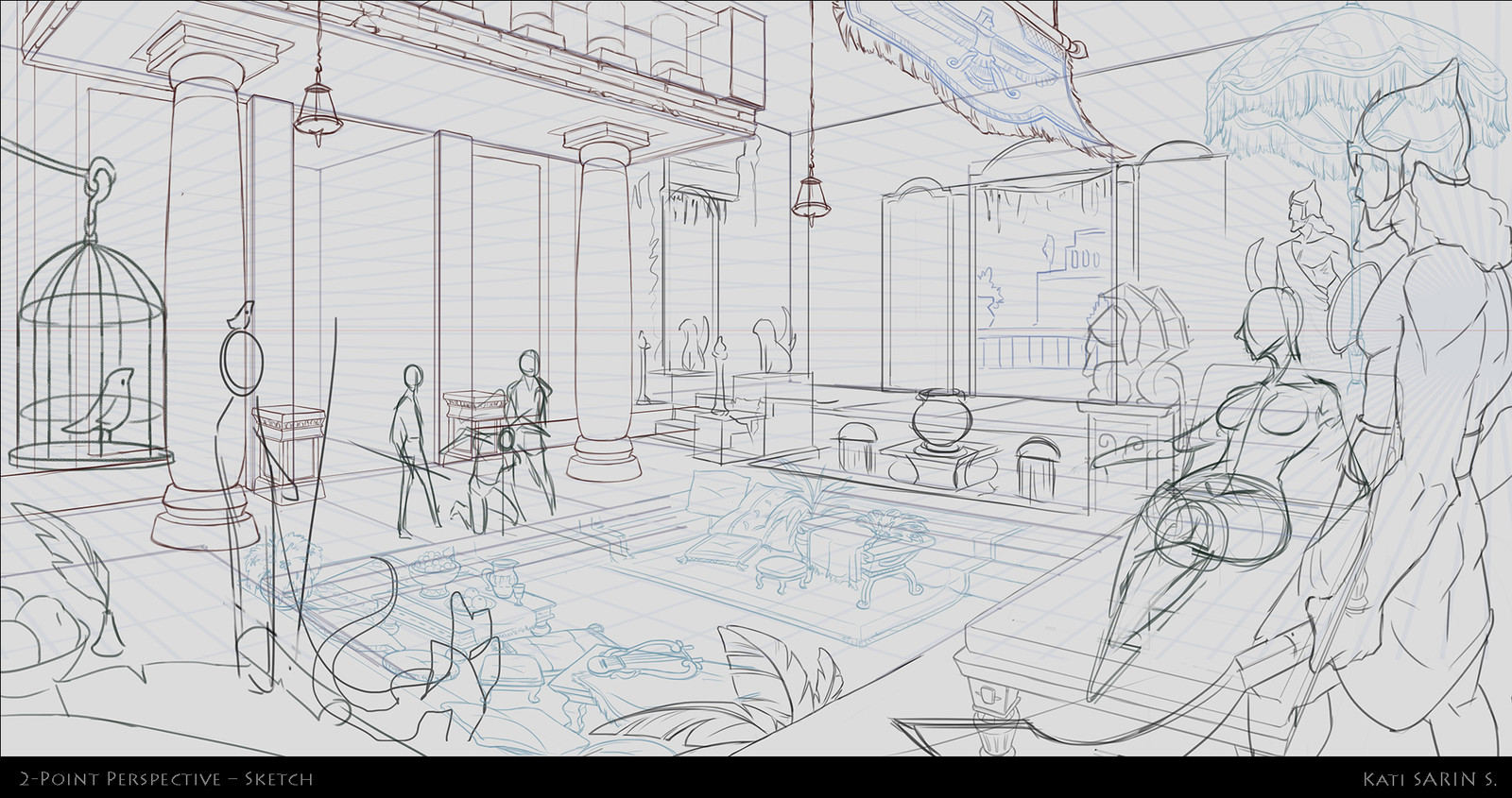 So, this is the same room but slightly different angle from the thumbnail, with characters added in.