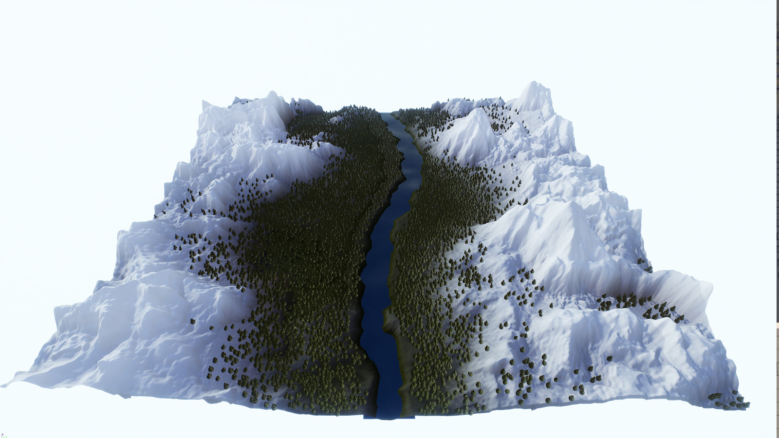 The overview of the second terrain.