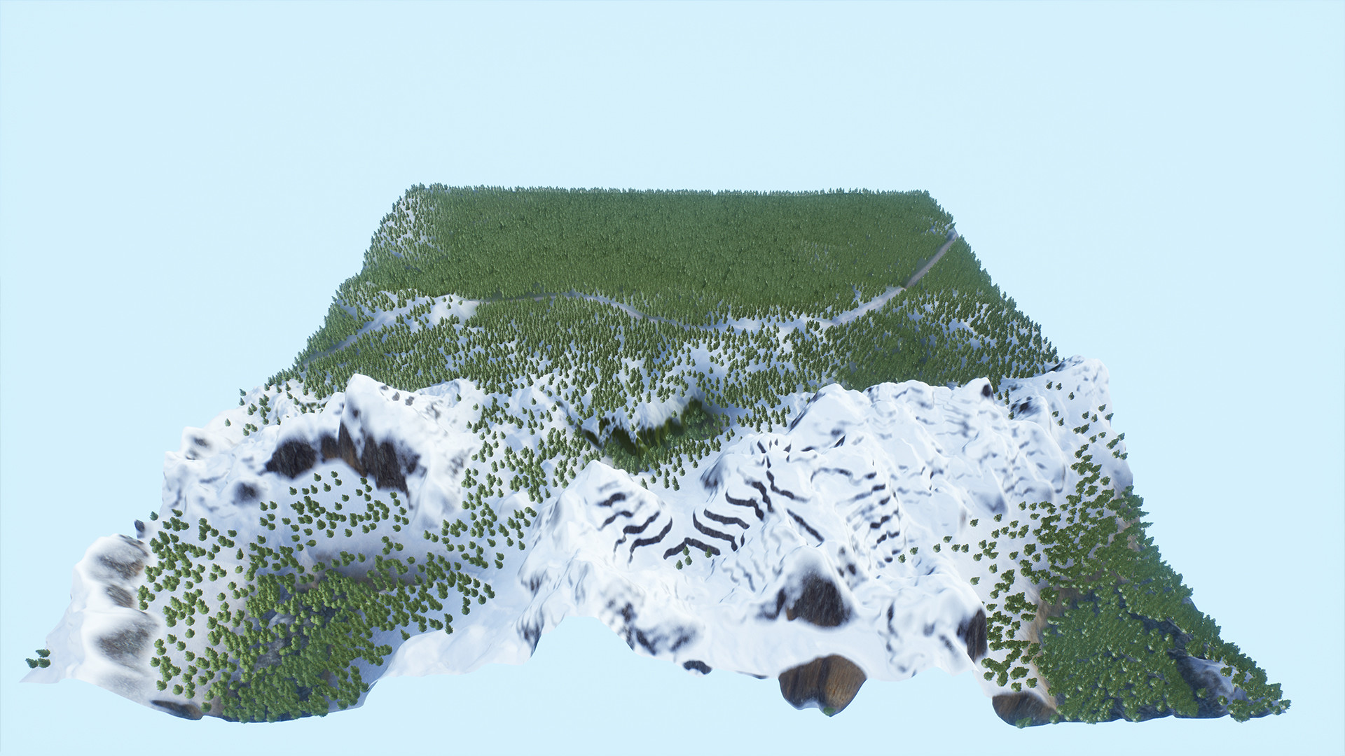 Overview of the third terrain.