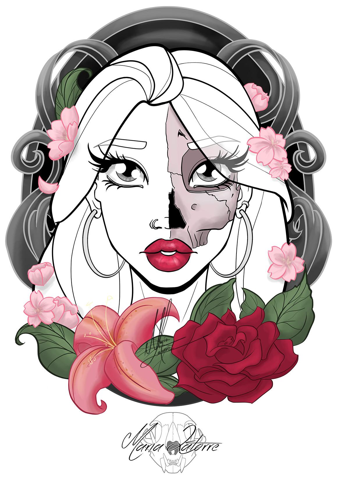 Maria latorre tattoo rosa 2f br