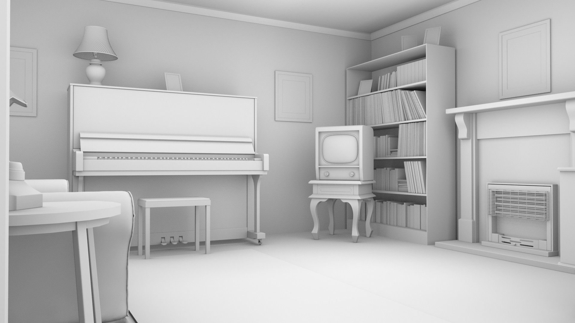 Alex Akins - WIP - \'Birthday\' film: 1960\'s Living Room Environment