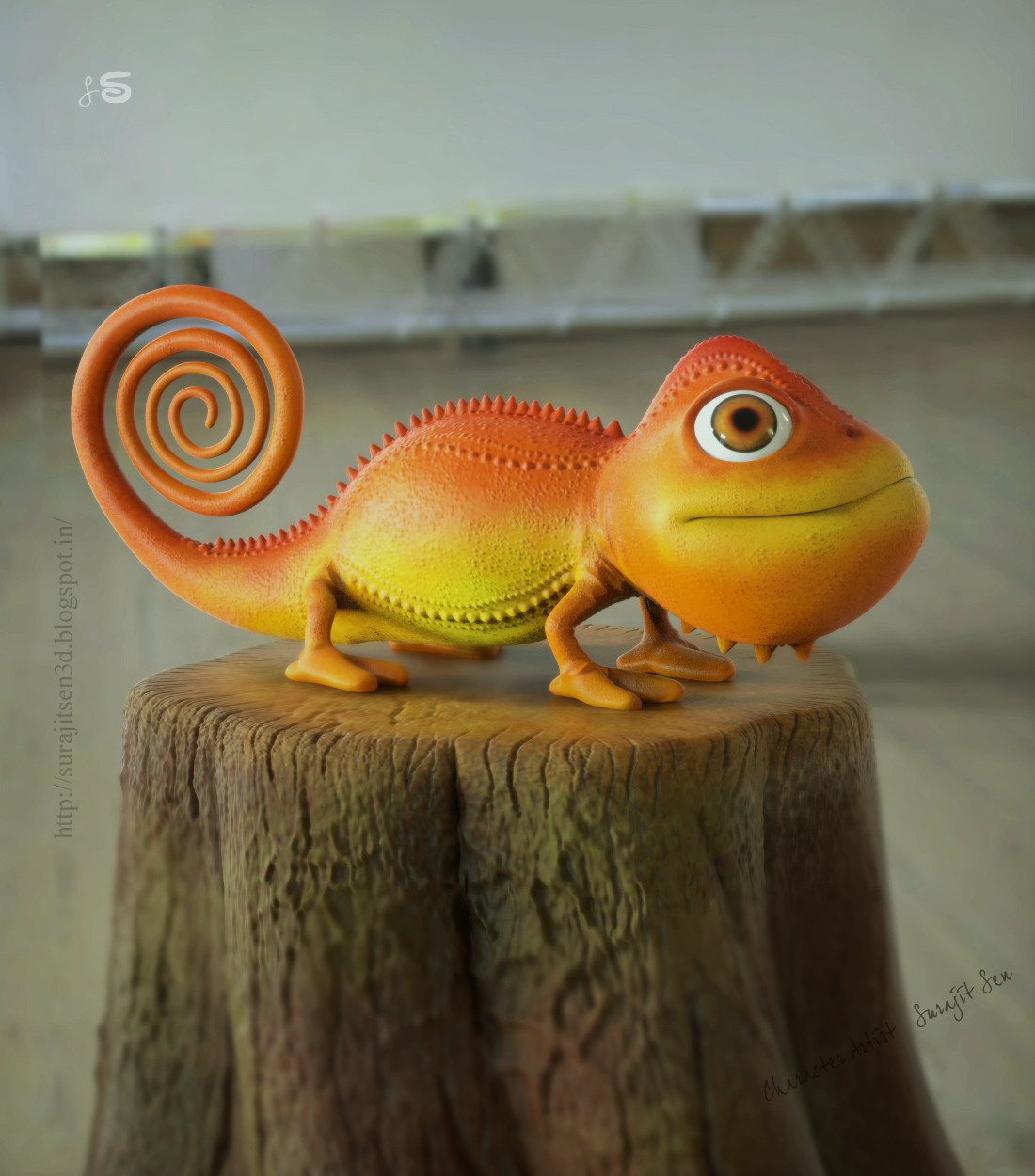 One of my old sculpts..... Chameleon! Wish to share...:)