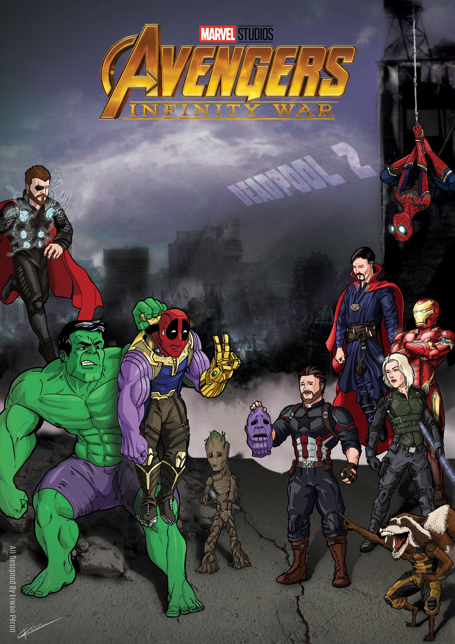 Erwan Peron Poster For The Avenger Infinity War And Deadpool 2
