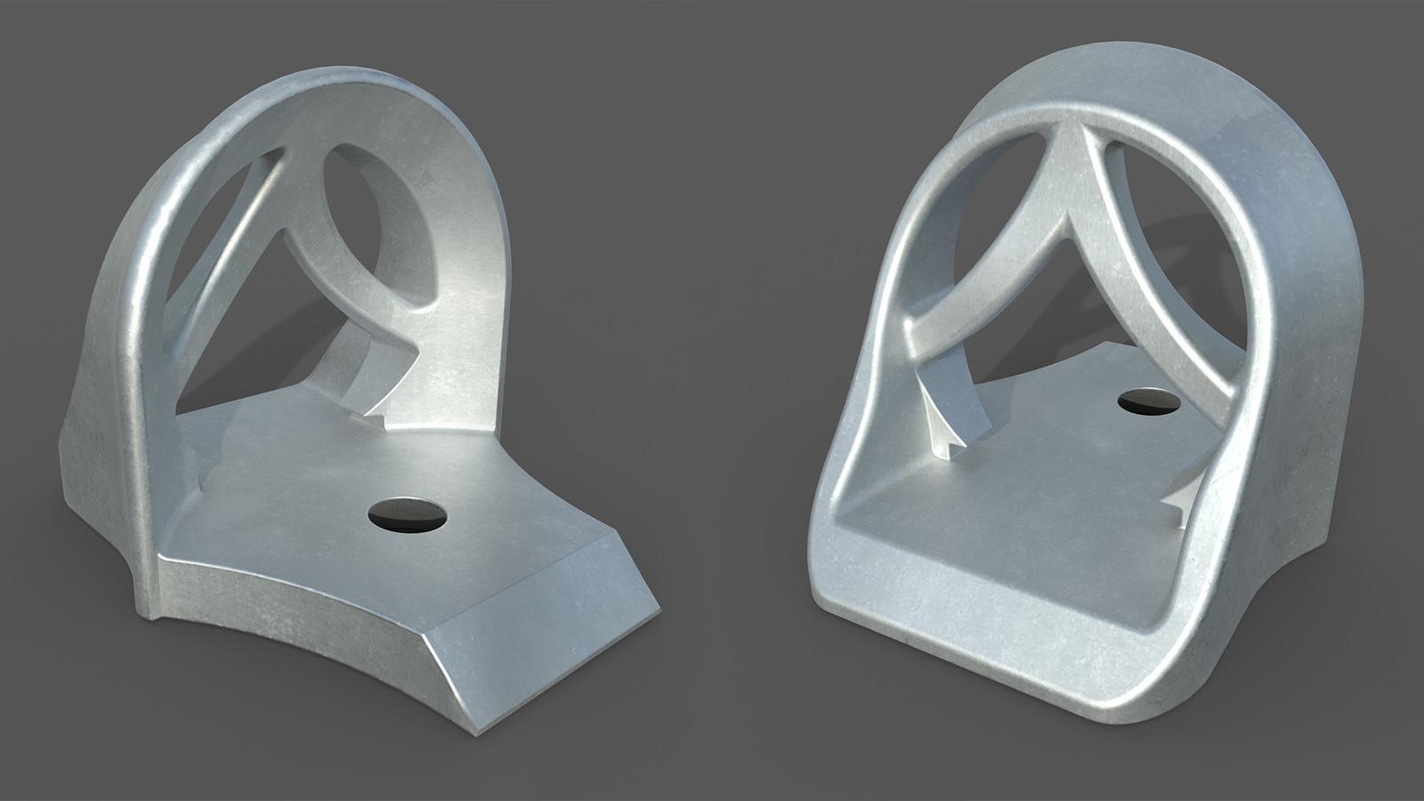 3D renders to visualize the die cast aluminum part.