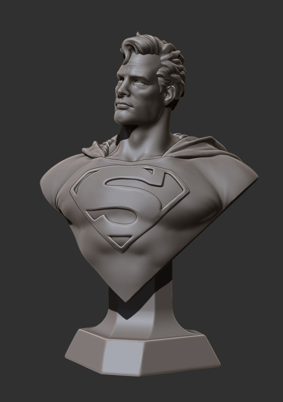David ostman superman bust1 render