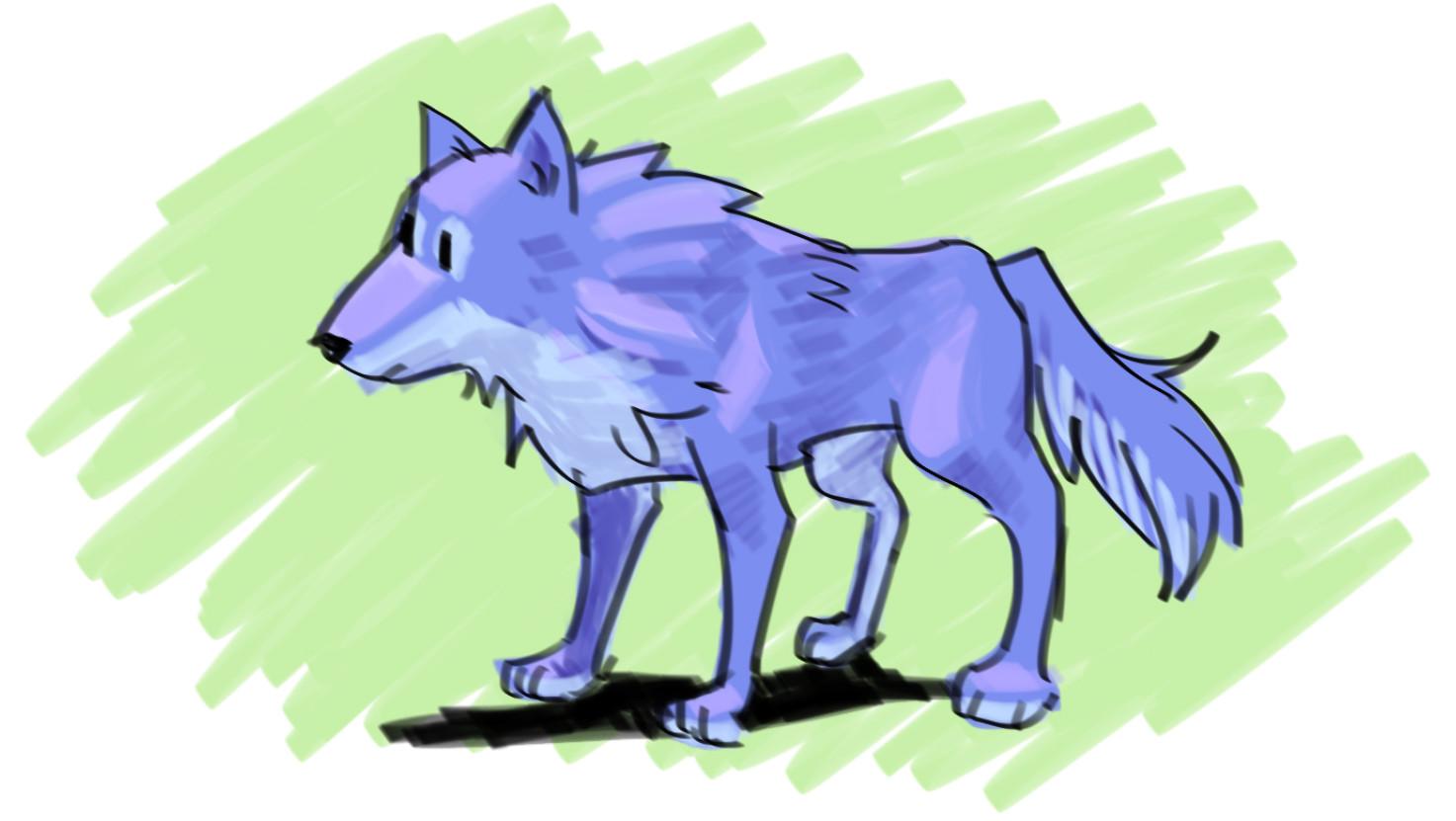 Blue Wolf (concept art)