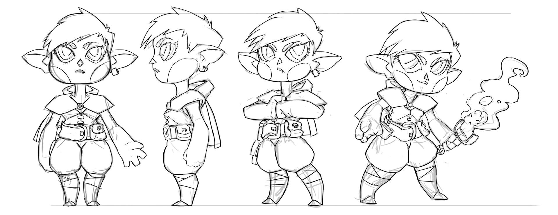 Juanda rico character sketch design