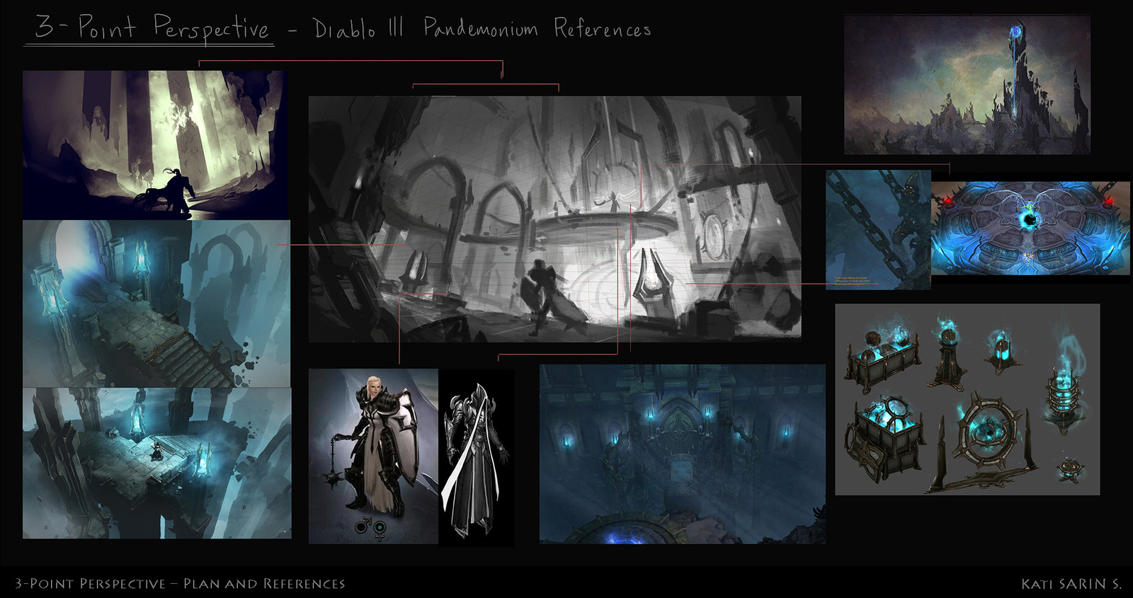 Research and composition planning with volumetric painting. References used: Character and concept © copyright Blizzard Entertainment