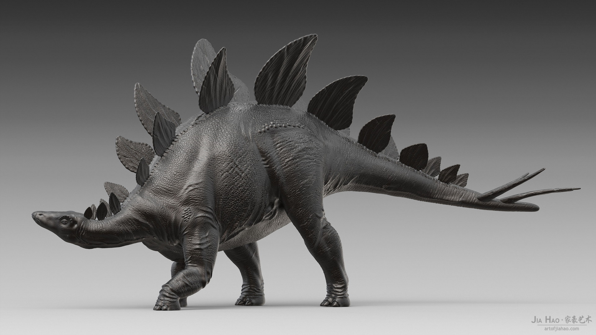 Jia hao stegosaurus digitalsculpture 02