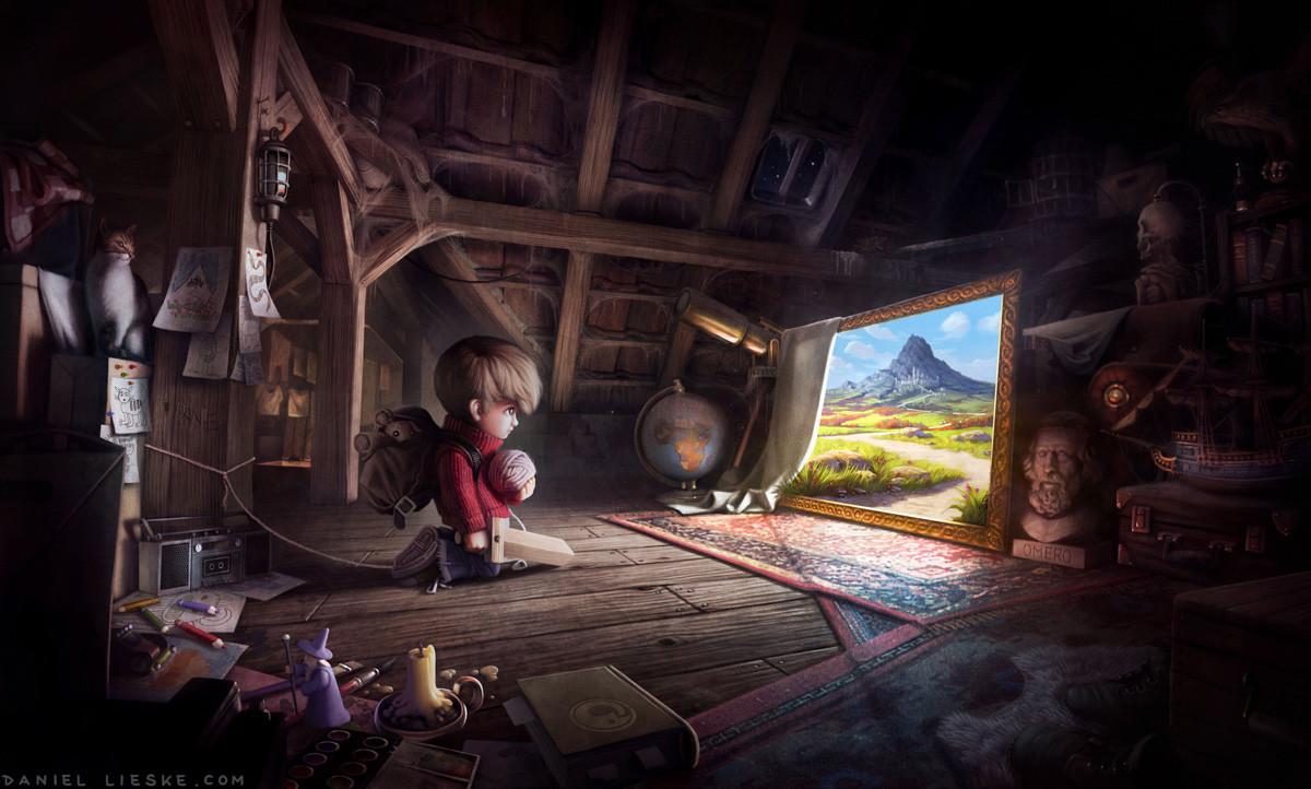"""""""The Journey Begins"""" finished illustration"""