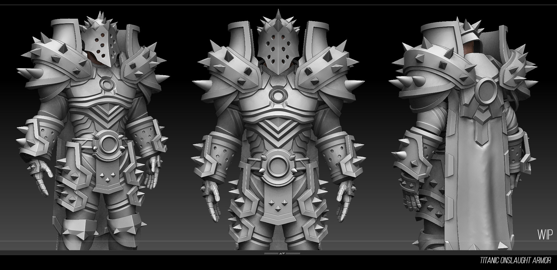 ArtStation - Warrior t20 armor set WIP, Romain Sakharov