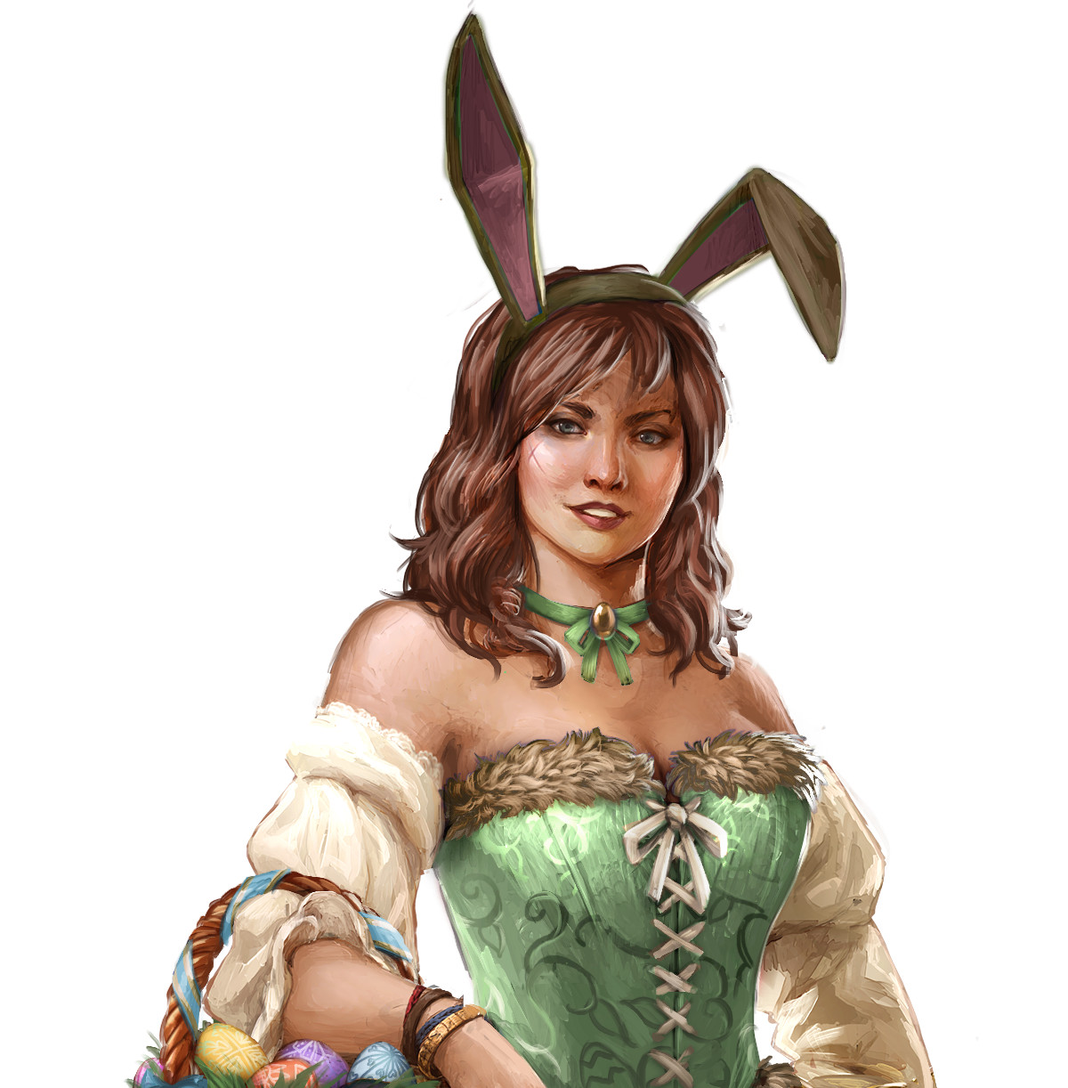 Bunny girl NPC who gives the event quests in 'Ships of Battle: Age of Pirates'