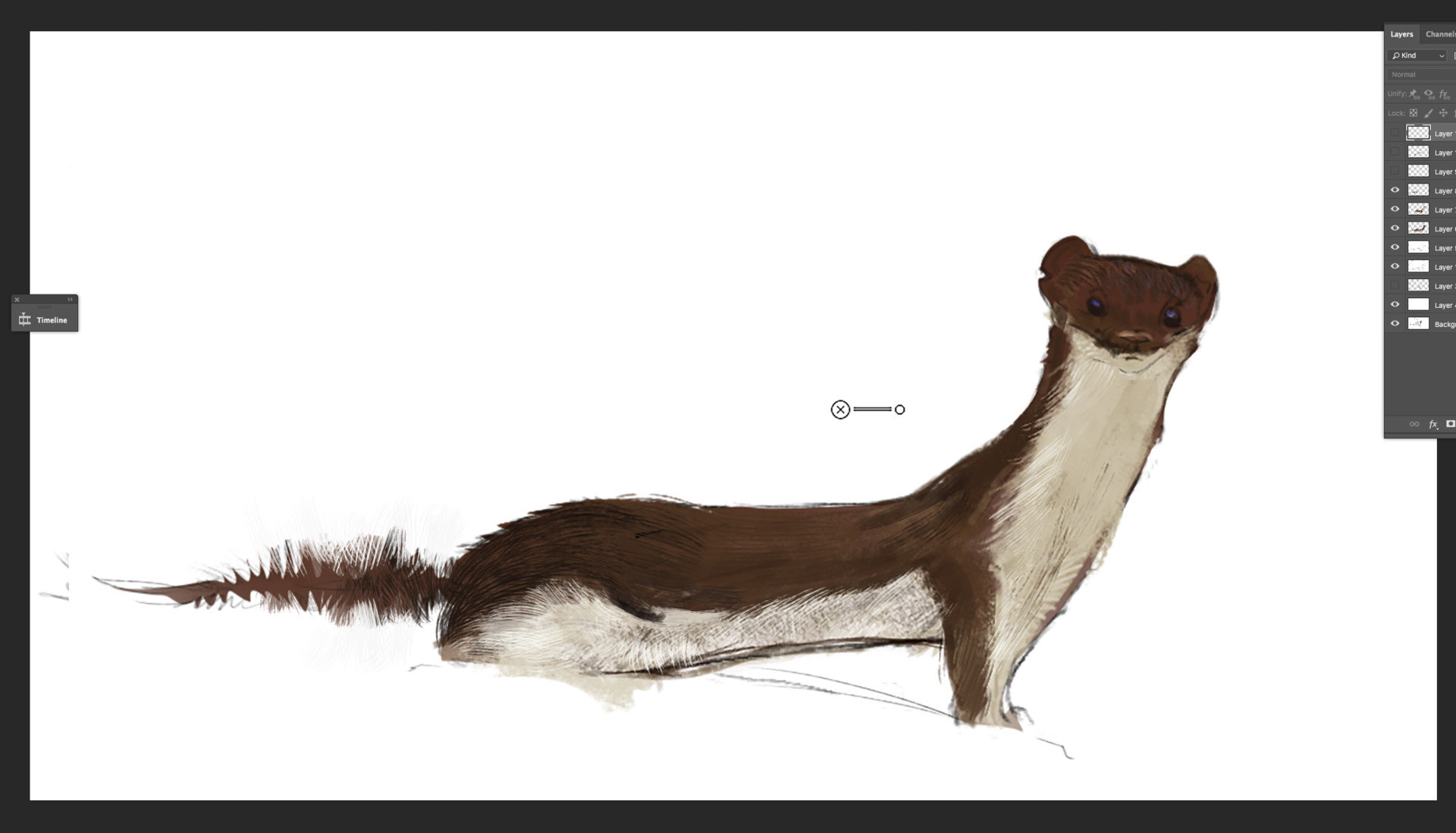 first step- how i have painted Fur