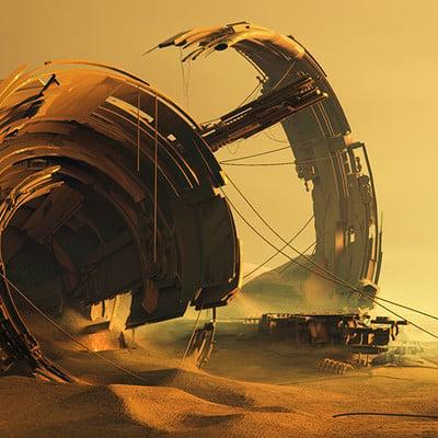 Pablo munoz gomez desert wreckage sci fi