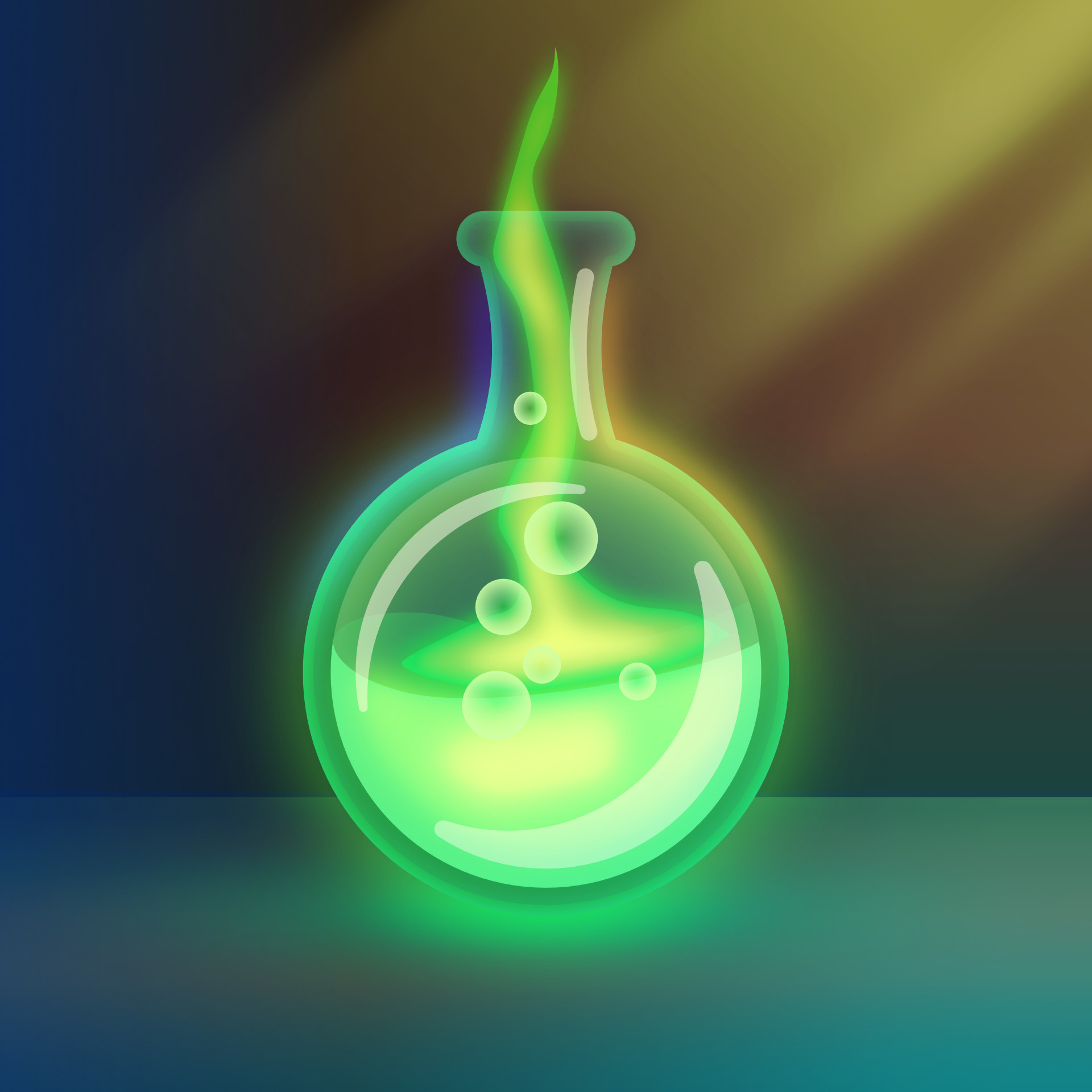 Glowing Green Potion