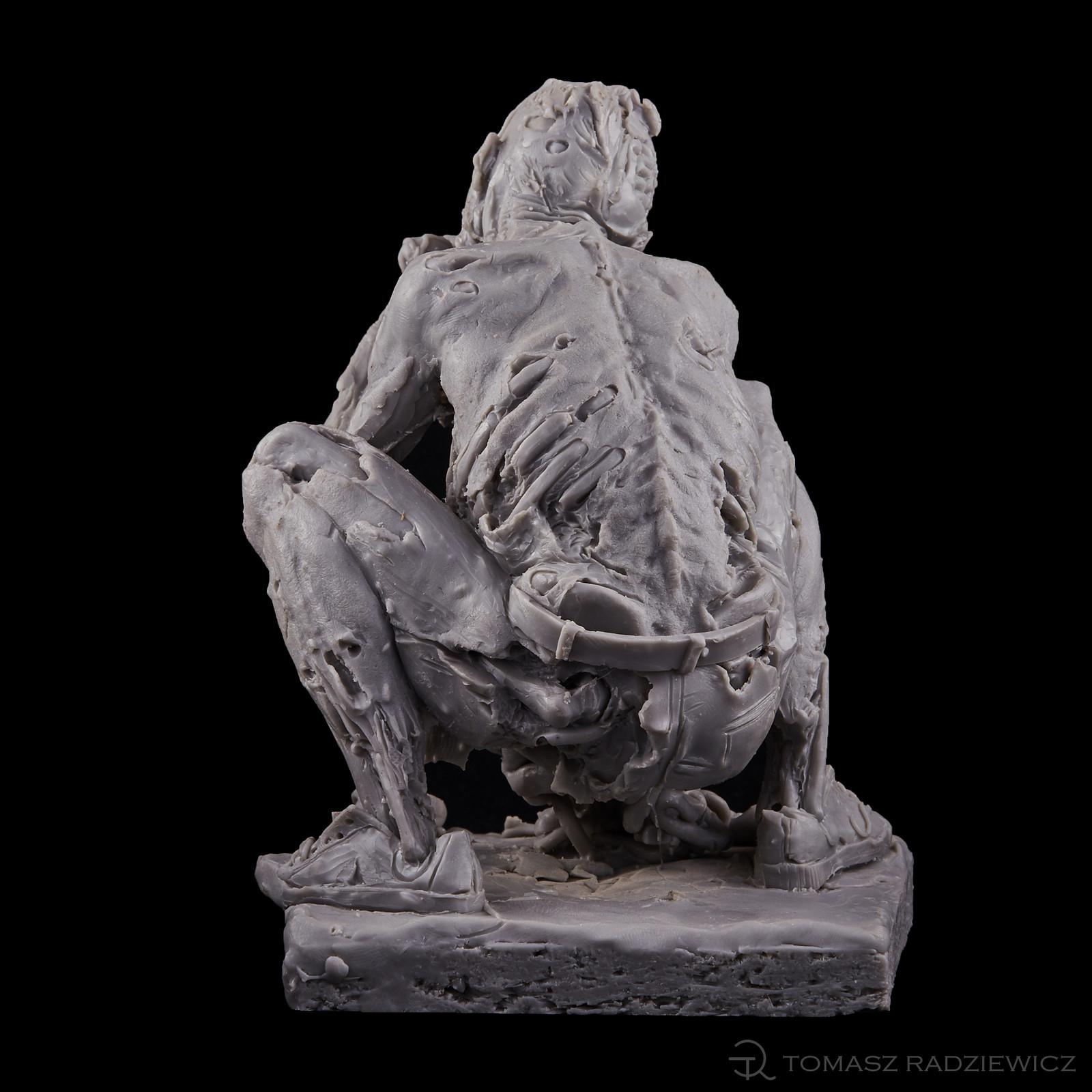 Zombie/ cast resin/hight 15 cm