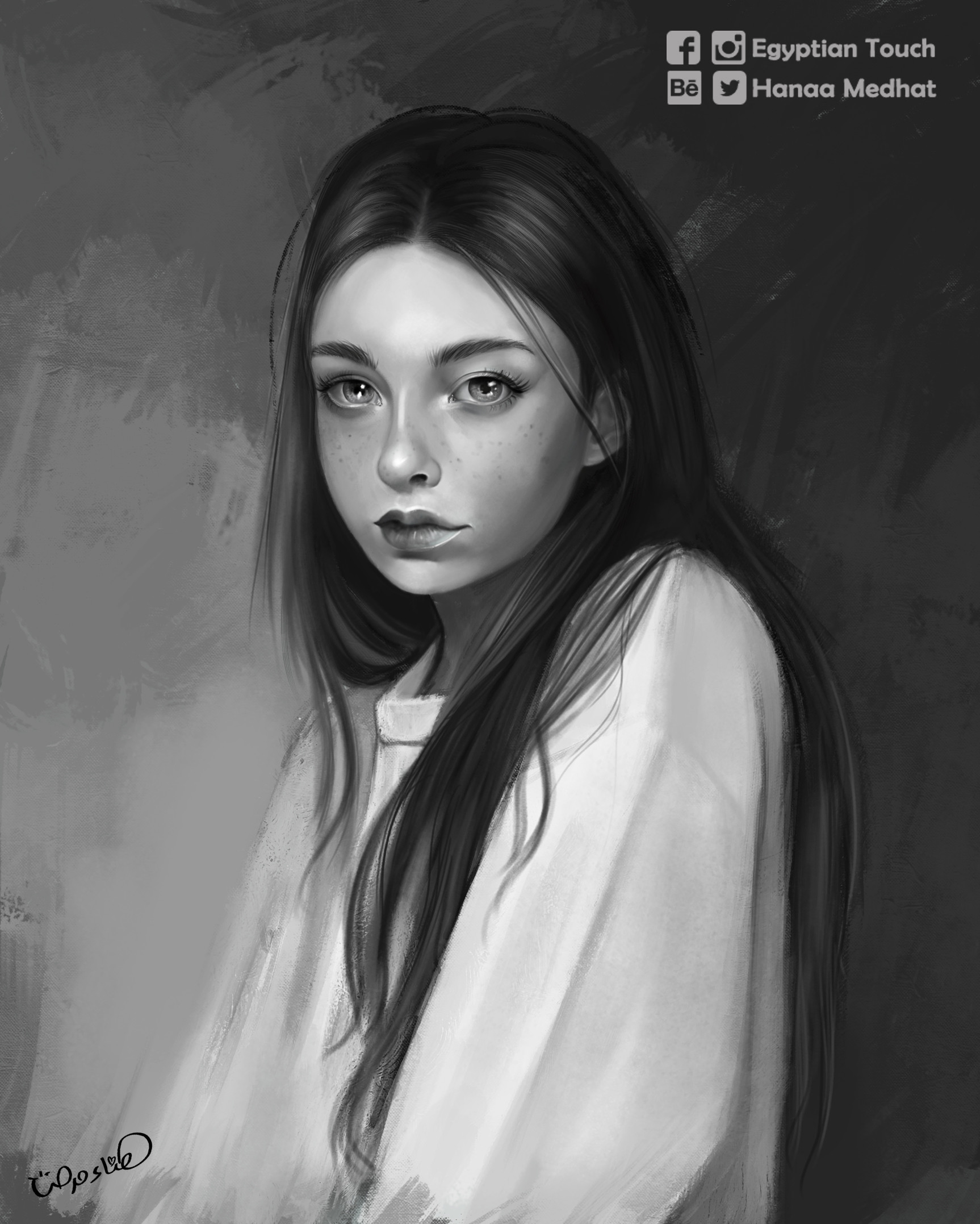 Hanaa medhat black white