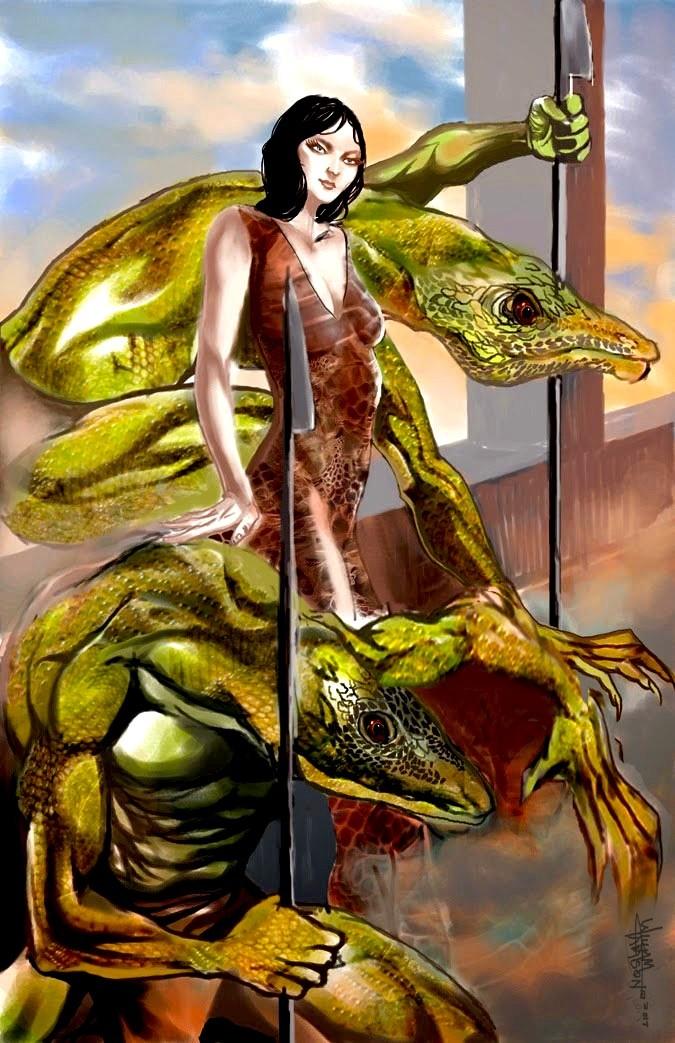 Afromation art reptilian