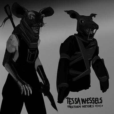 Tessa wessels freeform sketches