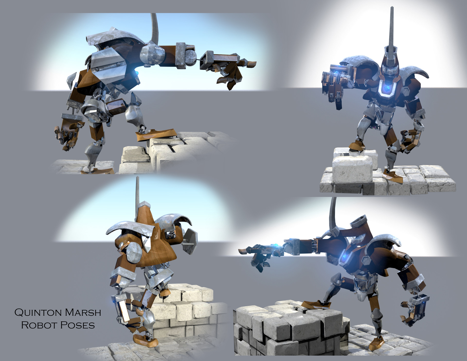ArtStation - Robot Mech with Ballista, Quinton Marsh