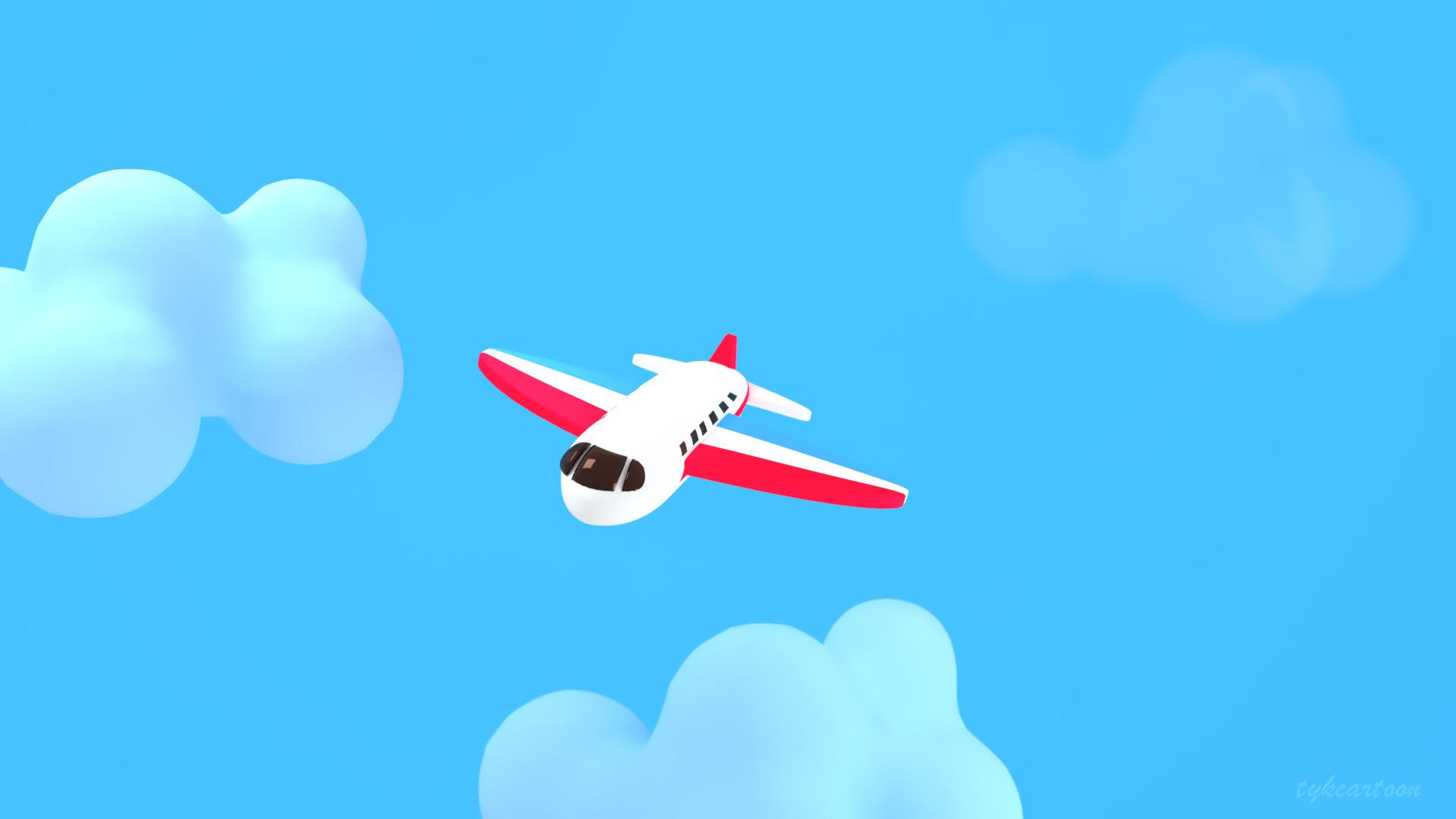Artstation Cartoon Airplane Judy Kao