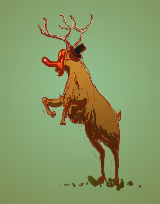 Jan deerbard krycinski 2018 02 04 tengu deer wearing hat