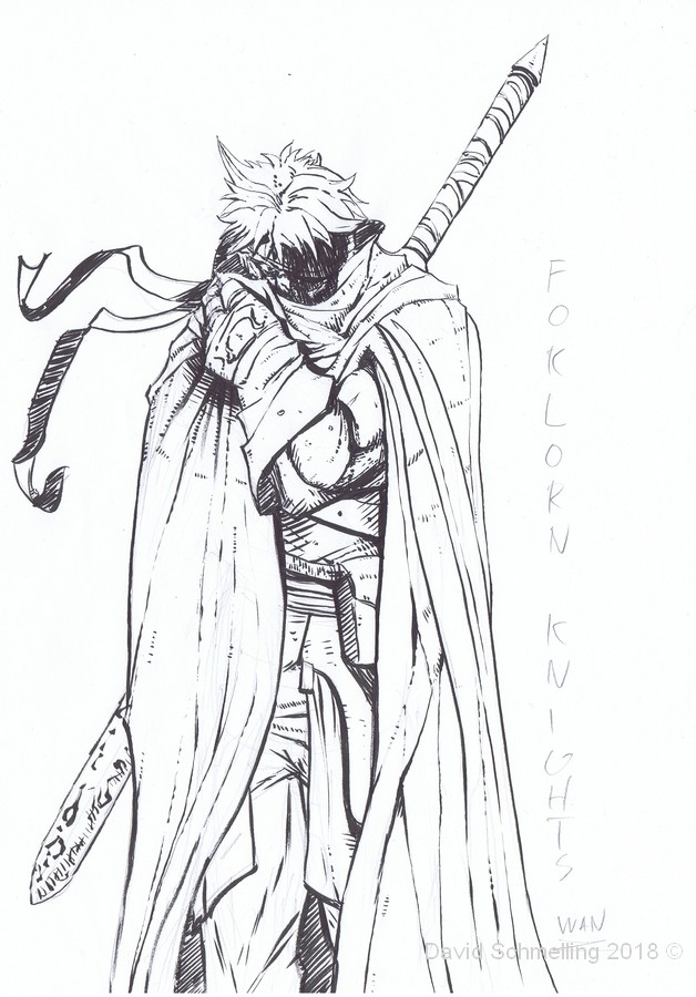 Wan, the Forlorn Knight (inks)